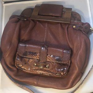 Zina Eva Brown Messenger Bag